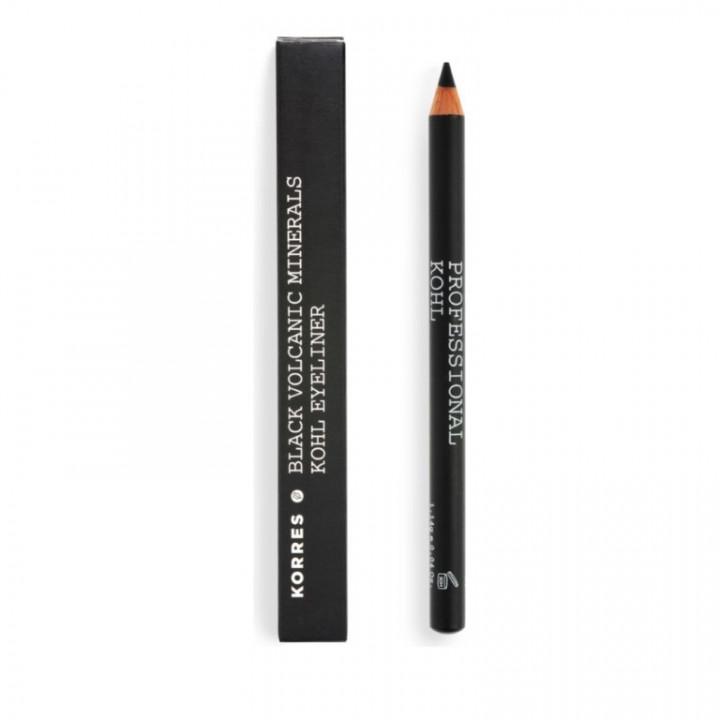Korres BLACK VOLCANIC MINERALS Professional Kohl Eyeliner - Black 01