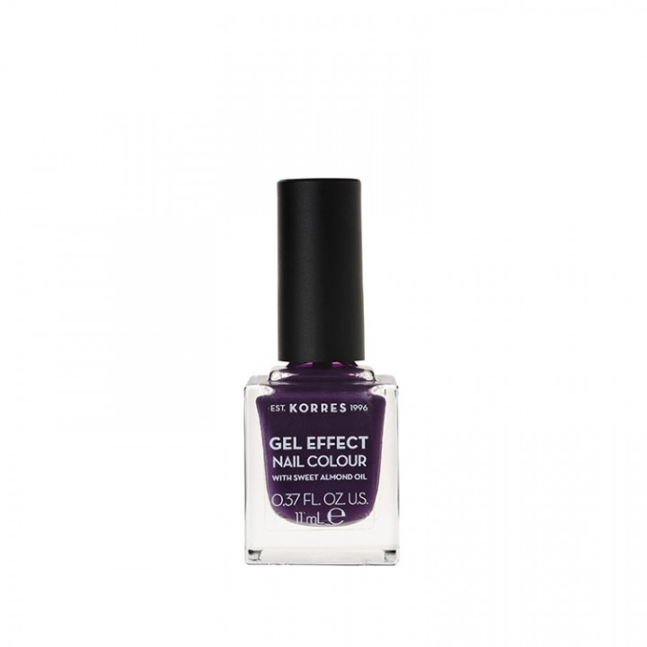 Korres Gel Effect Nail Colour with Sweet Almond Oil - Shade Violet Garden 75 - 11ML