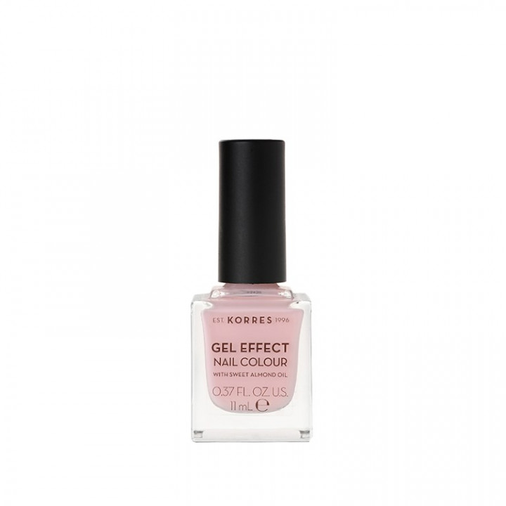 Korres Gel Effect Nail Colour with Sweet Almond Oil - Shade Candy PINK 05 - 11ML