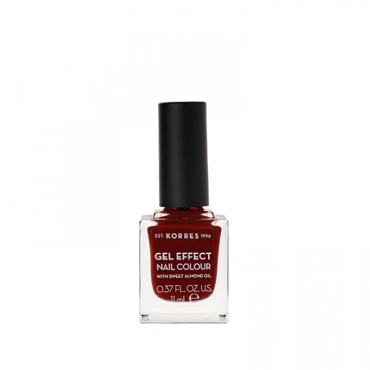 Korres Gel Effect Nail Colour with Sweet Almond Oil - Shade WINE RED 59 - 11ML