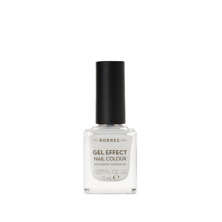 Korres Gel Effect Nail Colour with Sweet Almond Oil - Shade Porcelain White 02 - 11ML