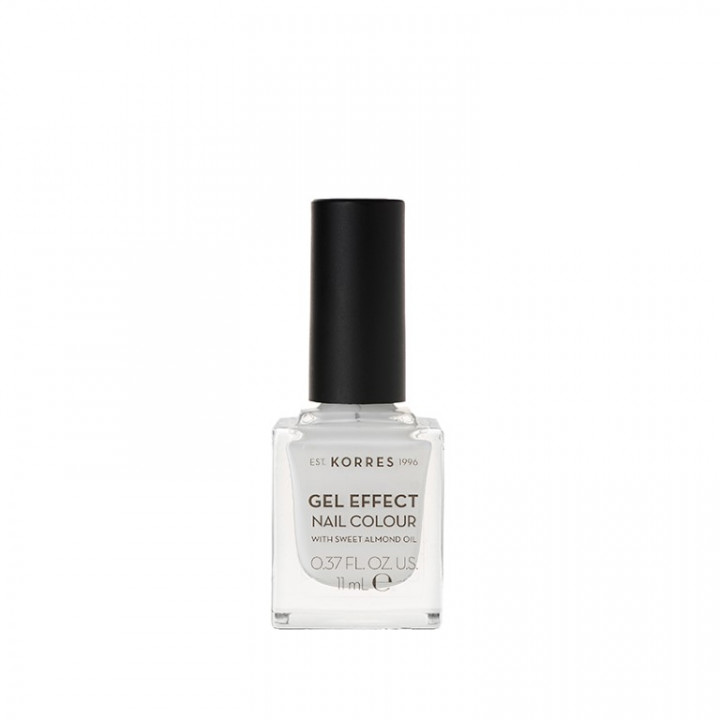 Korres Gel Effect Nail Colour with Sweet Almond Oil - Shade Blanc White - 11ML