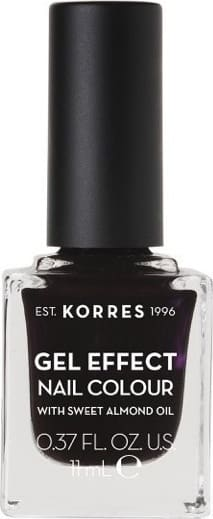 Korres Gel Effect Nail Colour with Sweet Almond Oil - Shade SMOKEY PLUM 76 - 11ML