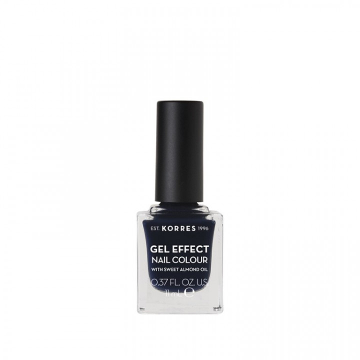 Korres Gel Effect Nail Colour with Sweet Almond Oil - Shade STEEL BLUE 88 - 11ML