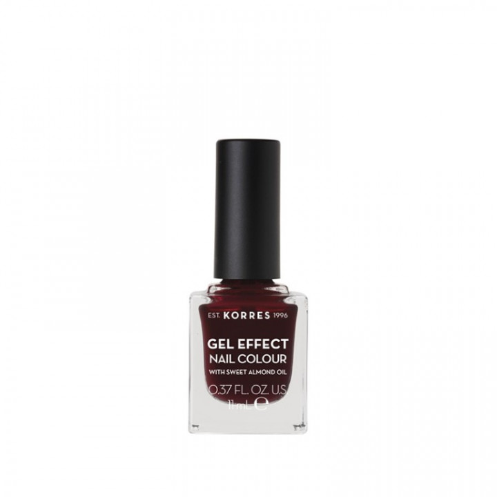 Korres Gel Effect Nail Colour with Sweet Almond Oil - Shade BURGUNDY RED 57 - 11ML