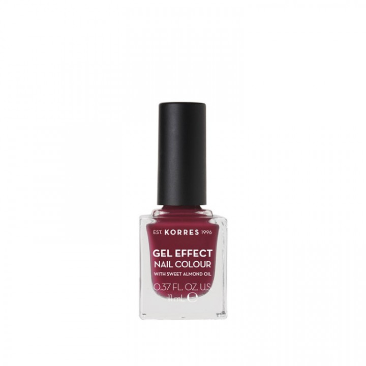 Korres Gel Effect Nail Colour with Sweet Almond Oil - Shade BERRY ADDICT 74 - 11ML
