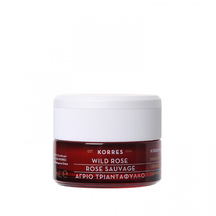 Korres WILD ROSE DAY CREAM for DRY SKIN - 40ML