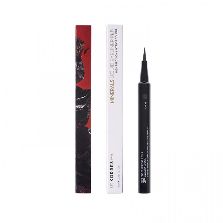 Korres BLACK VOLCANIC MINERALS Liquid Eyeliner Pen - Black 01 - 1ml