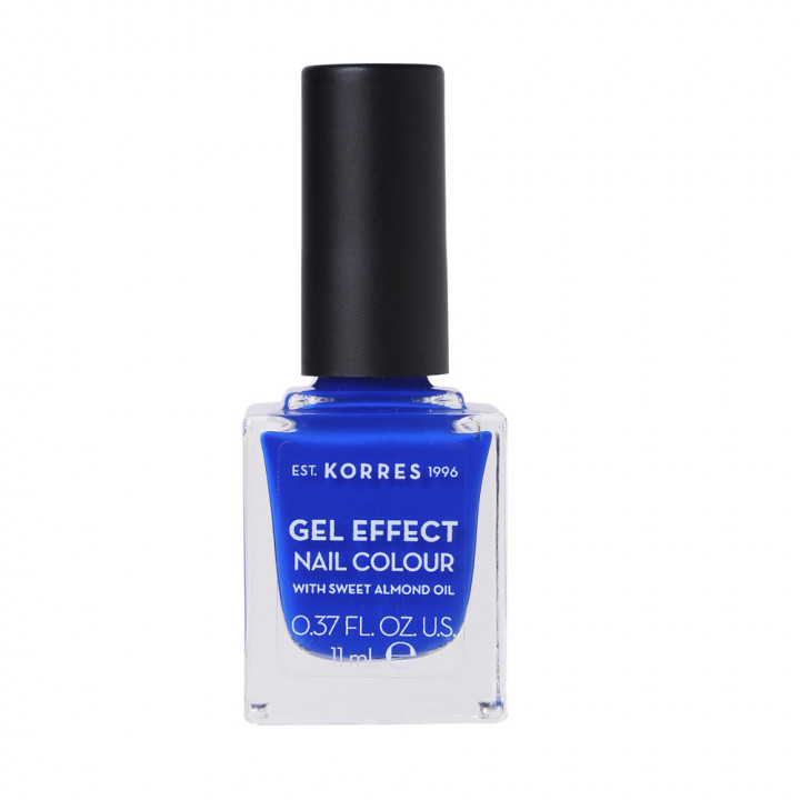 Korres Gel Effect Nail Colour with Sweet Almond Oil - Shade OCEAN BLUE 86 - 11ML