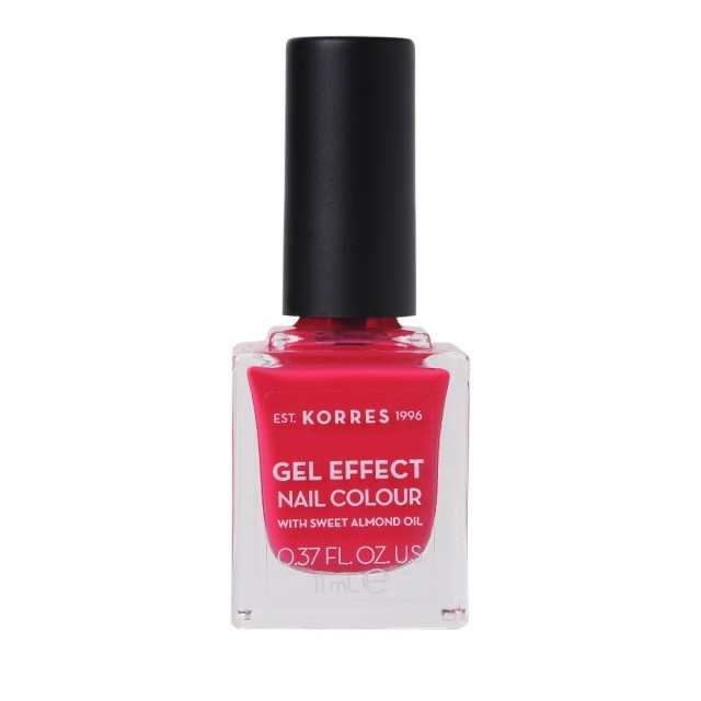 Korres Gel Effect Nail Colour with Sweet Almond Oil - Shade JUICY FUCHSIA 22 - 11ML