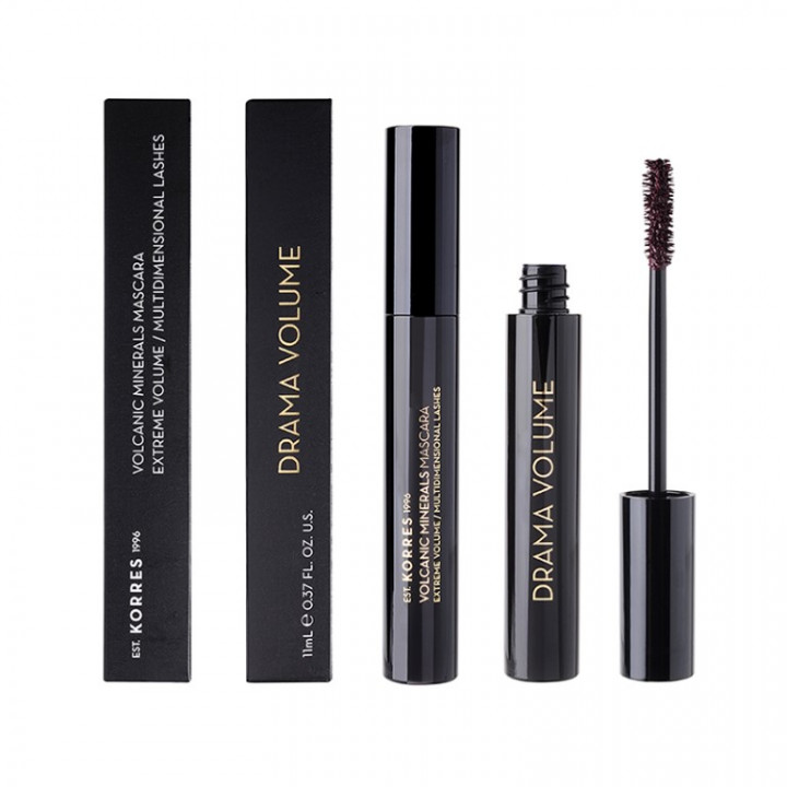 Korres BLACK VOLCANIC MINERALS Drama Volume Mascara - Shade BROWN PLUM 02 - 11ML