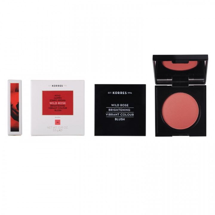Korres Wild Rose Brightening Blush Bright CORAL Shade 46 - 5.5g