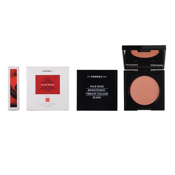 Korres Wild Rose Brightening Blush LUMINOUS APRICOT SHADE 42 - 5.5g