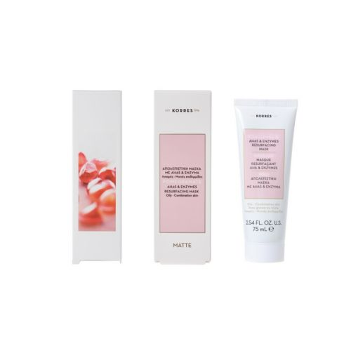 Korres Pomegranate Ahas & Enzima Resurfacing Mask - 75ml