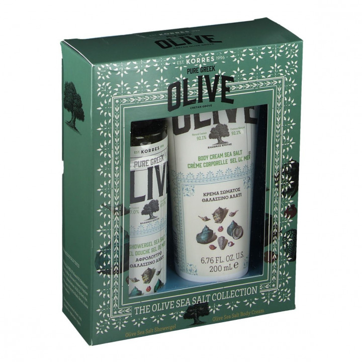 Korres OLIVE OIL AND SEA SALT BODY DUO FULL SET