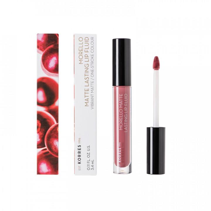 Korres MORELLO Matte Lasting Lip Gloss - Damask Rose 10