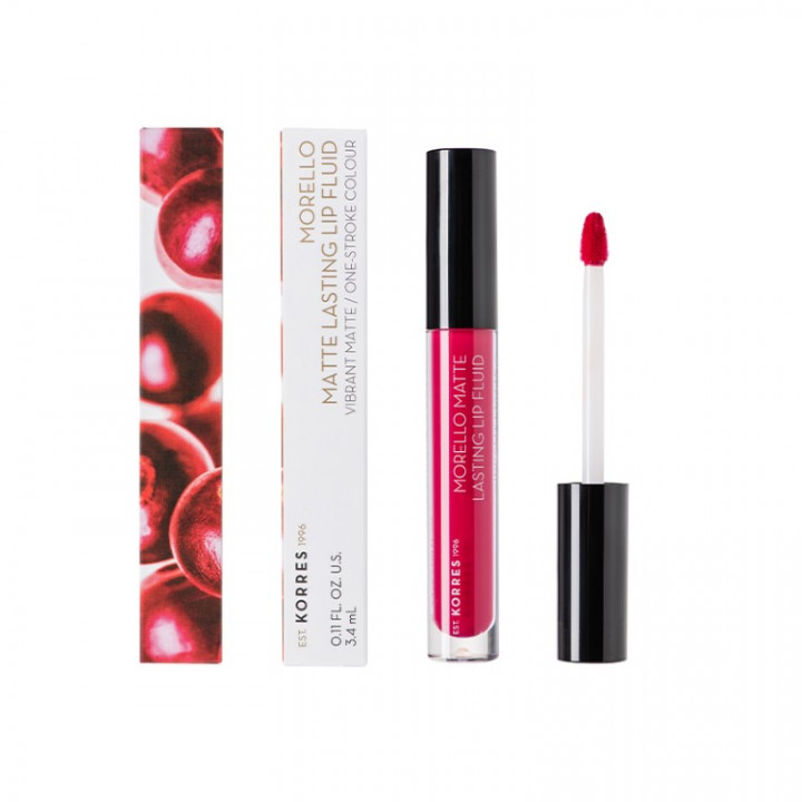 Korres MORELLO Matte Lasting Lip Gloss - Strawberry Kiss 29