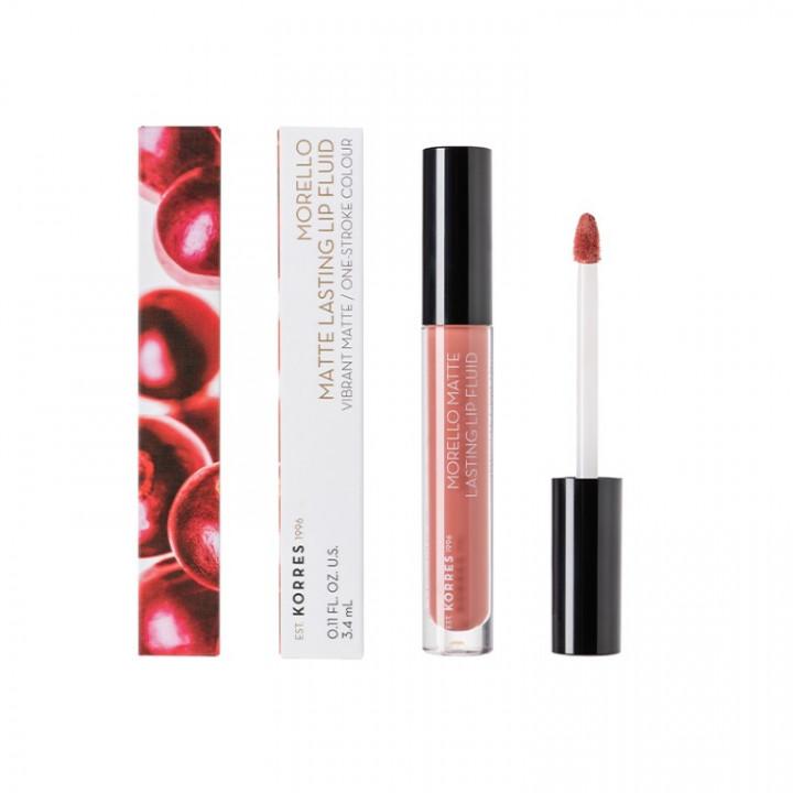 Korres MORELLO Matte Lasting Lip Gloss - Romantic Nude 06
