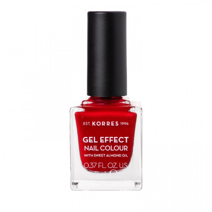 Korres Gel Effect Nail Colour with Sweet Almond Oil - Shade MELTED RUBIES 54 - 11ml