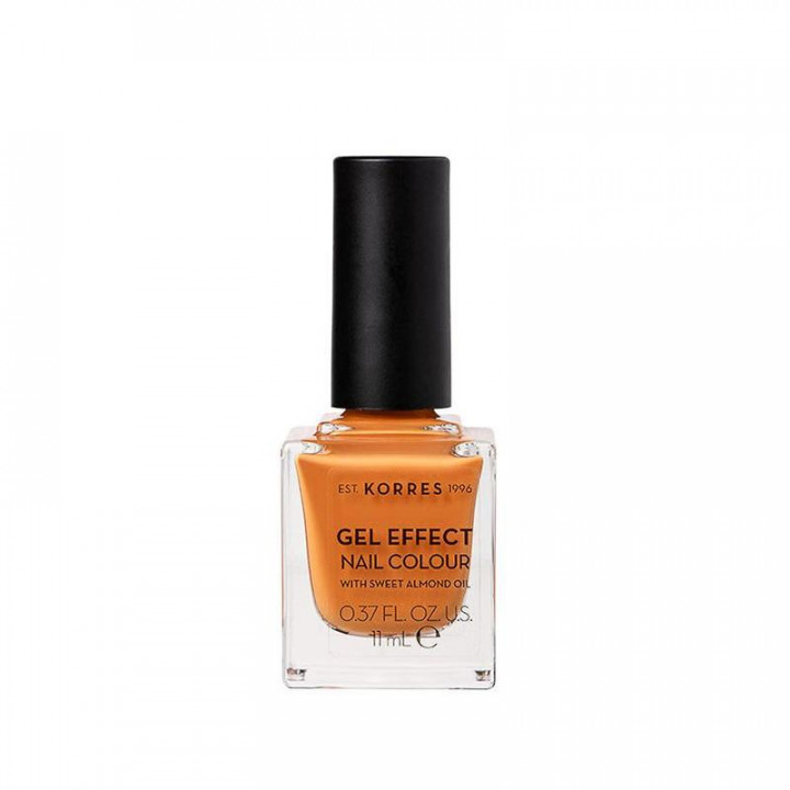 Korres Gel Effect Nail Colour with Sweet Almond Oil - Shade MUSTARD 92 - 11ml