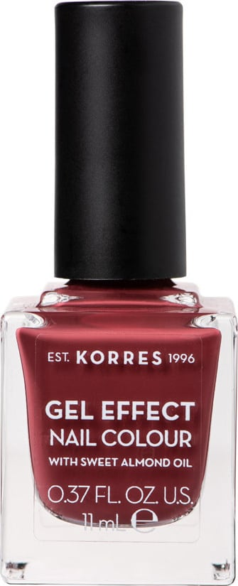 Korres Gel Effect Nail Colour with Sweet Almond Oil - Shade Vintage Bordeaux 77 - 11ml