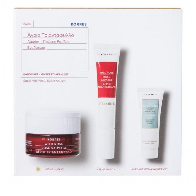 Korres WILD ROSE DAY Cream for Normal / Combination Skin SET