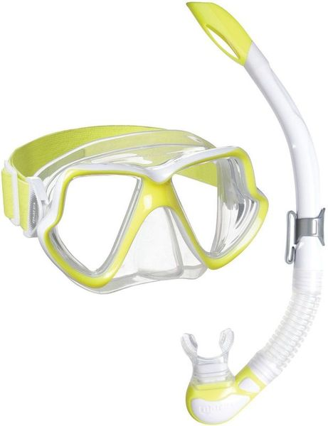 MARES WAHOO NEON COMBO SET - YELLOW WHITE/CLEAR