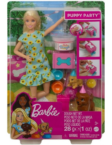 Barbie Puppy Party Doll And Playset