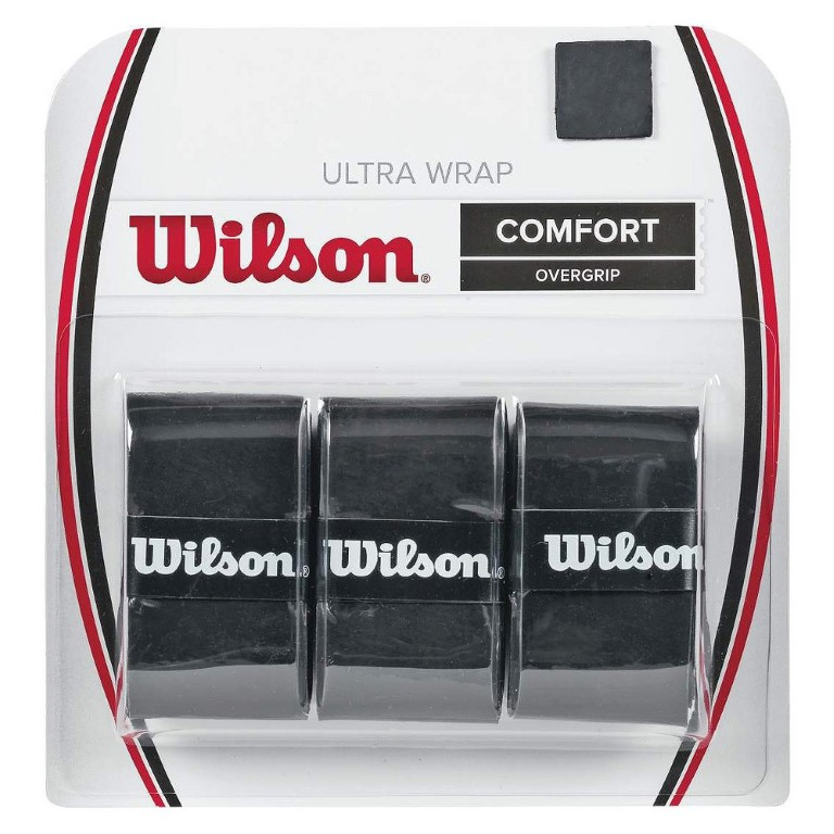 WILSON ULTRA WRAP OVERGRIP BLACK 3 PACK