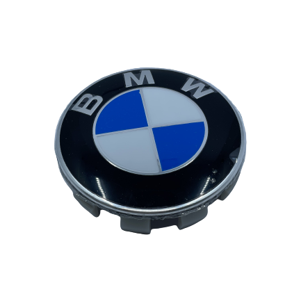 BMW Wheel Center Caps set of 4 - basic blue Small