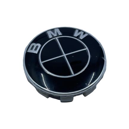 BMW Wheel Center Caps set of 4 - black Small