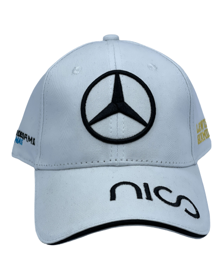 Mercedes white hat