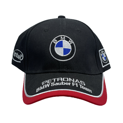 BMW black and red hat