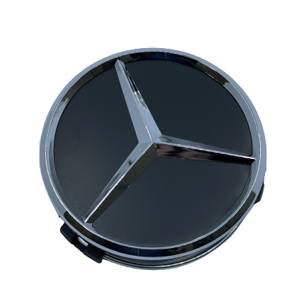 Mercedes Wheel Center Caps set of 4 - basic black and silver Small