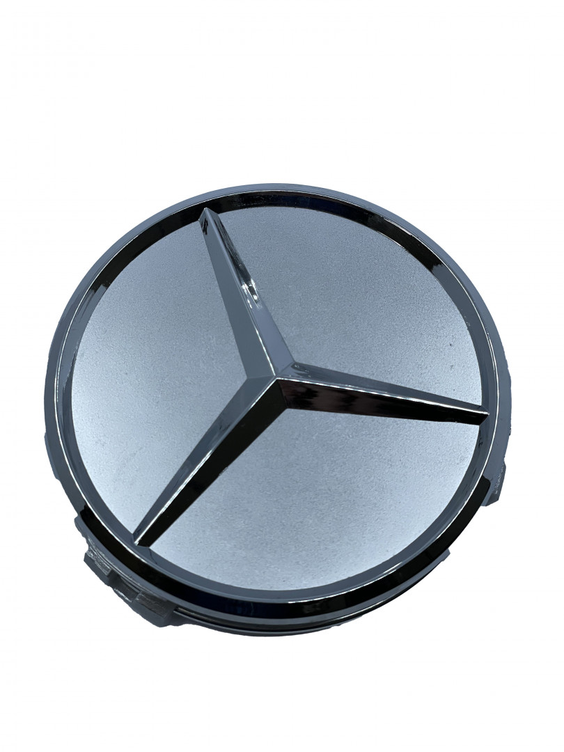 Mercedes Wheel Center Caps set of 4 - basic silver Small