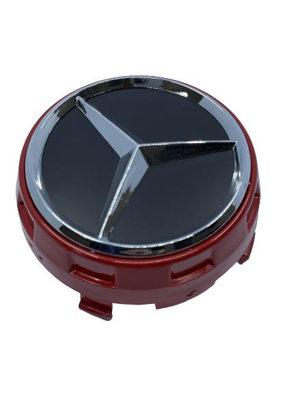 Mercedes Wheel Center Caps set of 4 - modern red Small