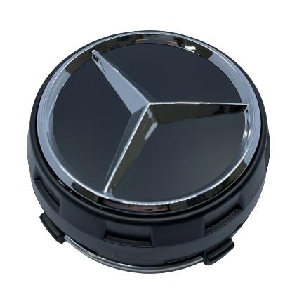 Mercedes Wheel Center Caps set of 4 - modern black Small