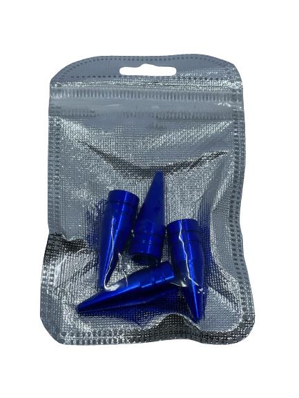 Tire Valve Caps - Blue Small