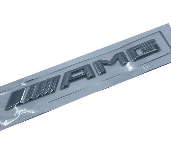AMG Logo Stickers - Nickel Small