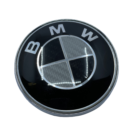 BMW Logo Front - Carbon Black Small