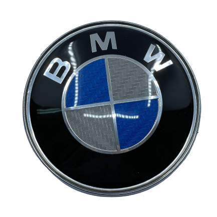 BMW Logo Front - carbon blue Small