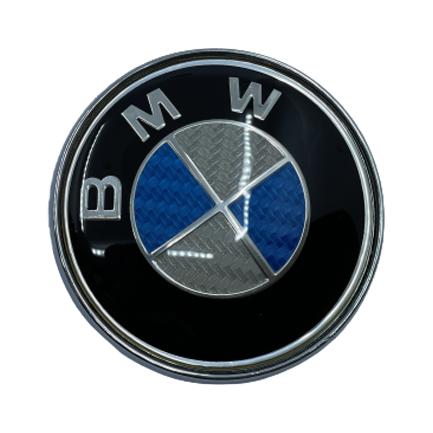BMW Logo rear - carbon blue Small