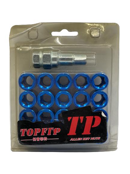 topfit wheel nuts - blue Small