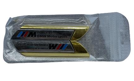 car badge set - bmw motor sport gold