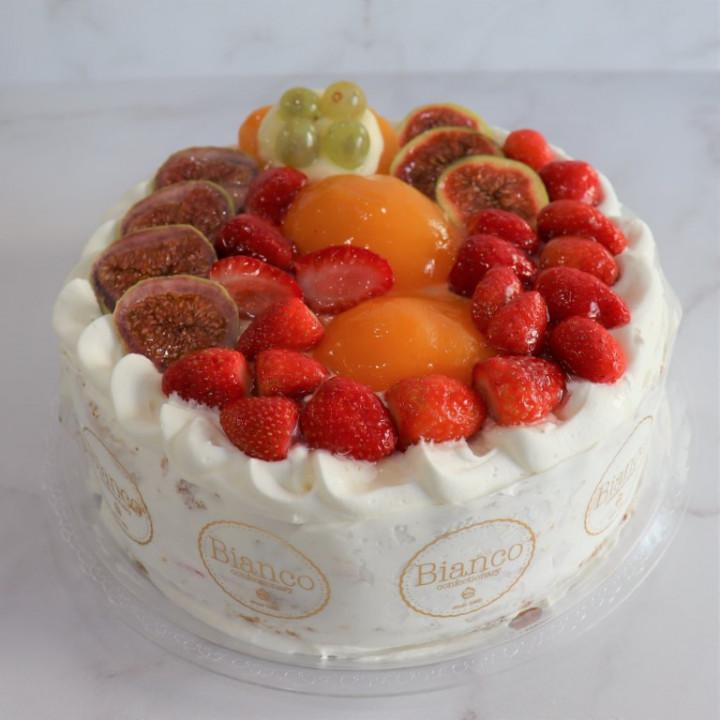 Φρέσκα Κρέμα Φράουλας Μεγάλη Τούρτα
