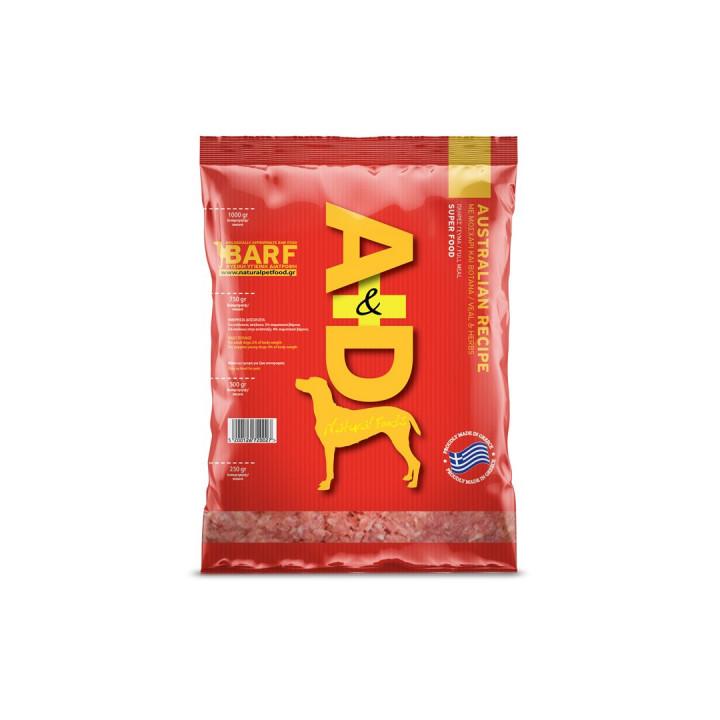 A&D NATURAL FOODS AUSTRALIAN RECIPE - 1KG