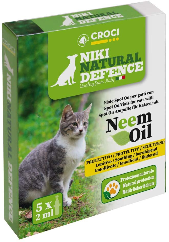 NIKI NATURAL DEFENCE SPOT ON VIALS WITH NEEM OIL FOR CATS - 5x2ml
