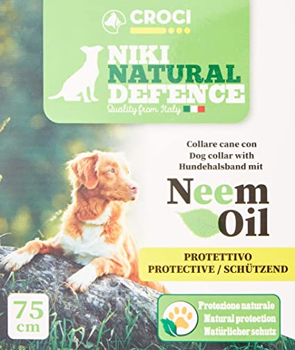 Niki Natural Defence Dog Collar with Neem Oil One Size - 75 cm