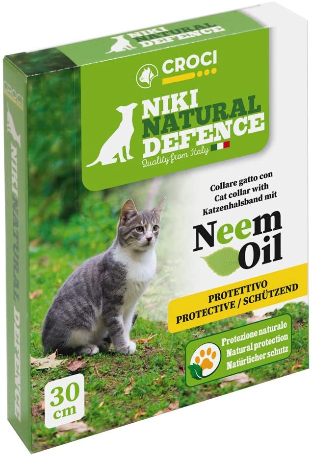 Niki Natural Defence Cat Collar with Neem oil One Size - 30 cm