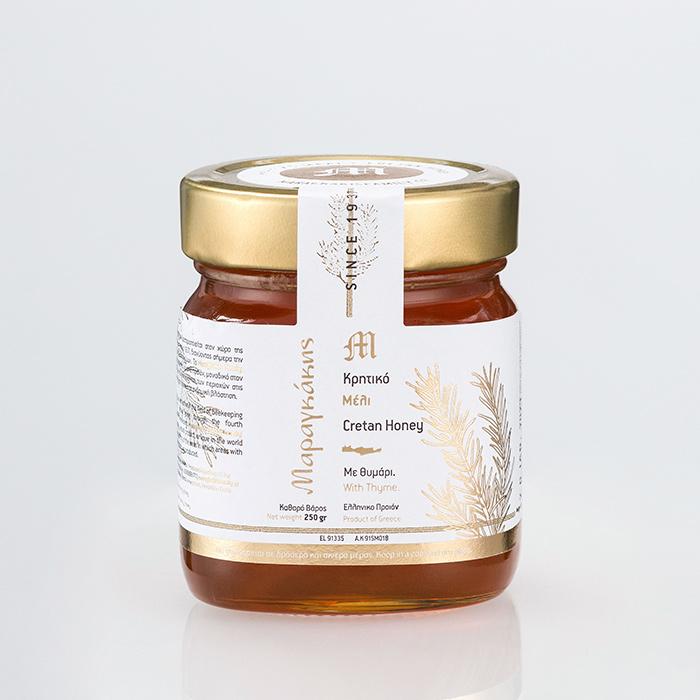 100% Pure Cretan Honey With Thyme (250g)